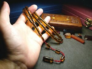 Perfect - %100 Original - Amber Bakelite Prayer Beads, Tesbih, Rosary, Islam
