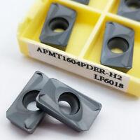 (discount)  10pc APMT1604PDER-H2 APKT1604 Milling carbide inserts for BAP400R
