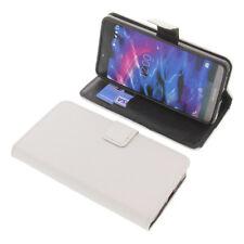 Tasche für MEDION Life X5004 Book-Style Schutz Hülle Handytasche Buch Weiß