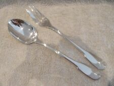 french silverplate serving fork & spoon Christofle Cluny Mint tl