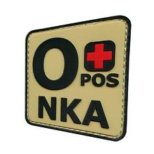 o+ OPOS NKA PVC rubber arid desert DCU AOR1 blood type parche hook patch