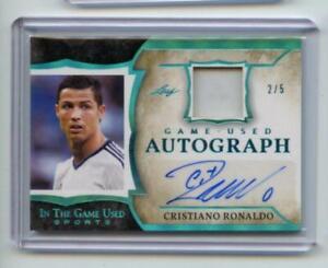 2020 Leaf In The Game Used Sports Game Used Auto Cristiano Ronaldo 2/5