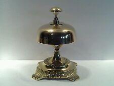 Vintage Ornate Polished Brass Counter Bell