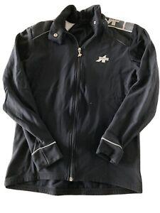 ASSOS Womens Large Fleece Lined Stretch Black Full Zip Jacket TS1