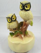 Vintage Wind Up Owls Music Box ca 1960s