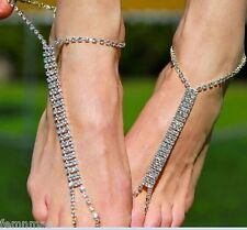 FemNmas Bridal Crystal Beads Anklet