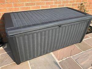 Keter Sumatra Waterproof Rattan Style Plastic Garden Storage Deck Box XL 511Ltr