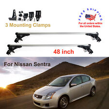 For Nissan Sentra 2006-2017 Aluminum Car Roof Crossbar Bar Rack  Luggage Cargo