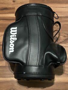 Wilson Mini Golf Bag Trash Can Umbrella Stand ManCave Display Black/White