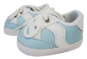 For Bitty Baby Accessories Doll Clothes Light Blue Gym Tennis Shoes Sneakers
