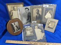 Estate Lot Antique-VTG Photos Baby Singer Microphone Music Art Deco Frame Rare