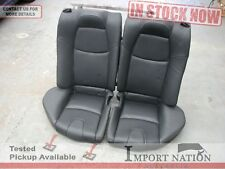 MAZDA RX8 USED REAR SEAT SET - BLACK OEM LEATHER UPPER + LOWER SE3P 03 - 08