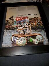 The First Edition Rare Original Alcoa Promo Poster Ad Framed!