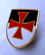 Z215 Knights Templar Beausant Shield Crusader St George Cross Badge FREE UK POST