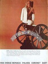 1966 DODGE FULL-LINE SALES CATALOG: Dart, Coronet, Polara, Monaco
