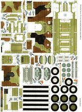Armoured vehicle Bison Czech rare Paper Model 1 : 50