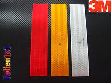 9,32€/m je 1 x 250x55mm rot,weiß,gelb 3M Reflexfolie Kontur-/Warnmarkierung ECE
