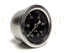 """100 PSI Oil Pressure Gauge with 1/8"""" NPT Male Fitting"""