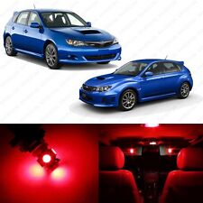 6 x Red LED Interior Lights Package For 2004 - 2013 Subaru Impreza WRX STI