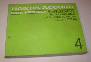 Repuestos Catálogo / Teile-Liste Honda Accord 2-Türer Sj 800/810 - Stand 1977