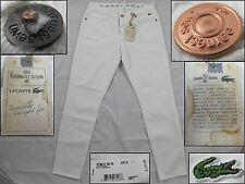 NWT Womens Lacoste Earnest Sewn Pants Light White HF7996 Size 30 $175.00