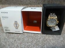 Nixon The Monopoly SS Men's Watch Gold Silver A325-2062 BRAND NEW WITH TAGS RARE
