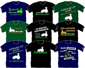 Landwirtschaft Traktor Trecker Landwirt Azubi Lehrling Feldarbeiter T-Shirt