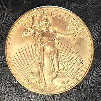 1992 American Gold eagle 1/2oz $25 Gold Coin - High Quality Scans #E584