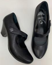 Dansko Women's Betty Mary Janes Heels Black Perfect Size 38 US 7.5 8