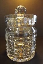 """Clear Cut Crystal Towle Riviera Biscuit Cookie Jar 8"""" Original Sticker Canister"""
