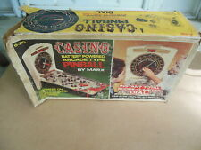 Vintage Marx Electric Casino Pinball Automatic Scoring Table Top Game W/ Box