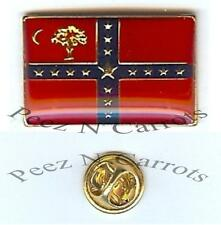 South Carolina Sovereignty Flag Civil War Lapel Pin Enamel Metal Clutch Pin