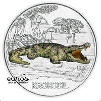 Pièce 3 euros commémorative AUTRICHE 2017 - Le Crocodile - Pièce phosphorescente