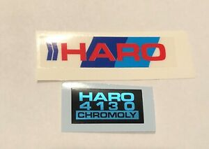 Old school BMX freestyle '85 '86 Green Haro MASTER handle bar stickers decals