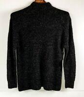 Amuse Society 'Lets Snuggle' Black Longline Comfy Fluffy Soft Jumper BNWT Size S