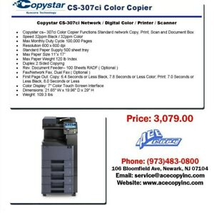 Copystar CS-307ci Laser MFP Print/Scan/Copy Color Copier