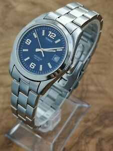 Timex Indiglo WR30M Gents Classy Watch With Stainless Steel Bracelet