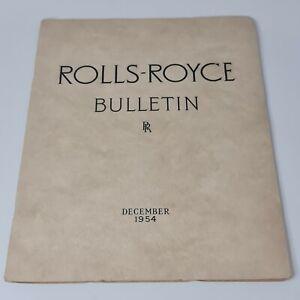 Rolls-Royce Bulletin December 1955 Derby