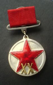 20 Jahre RKKA Rote Armee Sowjetische Russische Militärmedaille Kleiner Block KOP