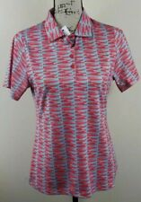 ANTIGUA Golf Polo Shirt, Womens Size S, Red, Blue, Short Sleeves, Stretch, NEW