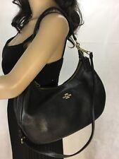 Coach Harley Black Leather Shoulder Hobo/Crossbody Bag F38250