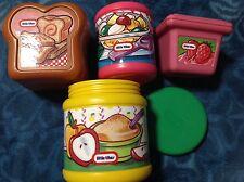 4 Little Tikes Play Food Vintage  Bread jam can jar