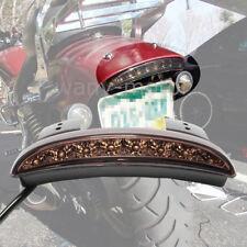 Motorcycle Fender Rear Brake LED Tail Light For Harley Dyna Street Bob Smoke Red