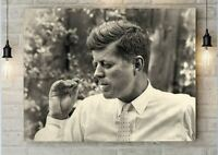 JFK Kennedy Cigar Weird Antique Art print poster with Hippy Pipe free shipping