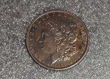 old US Morgan silver dollar coin 1889 AU