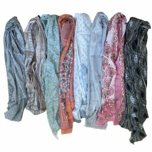 Indian Block Print Cotton Scarves