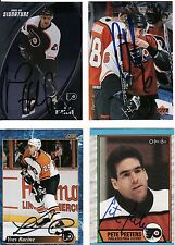 PETE PEETERS, PHILADELPHIA FLYERS, RARE AUTO'D/SIGNED NHL CARD.