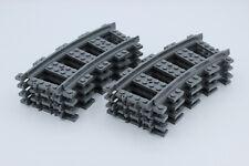 LEGO City Eisenbahn - 8x kurvige Schienen - Kurven - NEU - aus Set 60198/60205