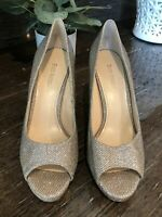 ENZO ANGIOLINI WOMENS OPEN TOE HIGH HEEL PUMP SIZE 8 1/2M ~ STUNNING!