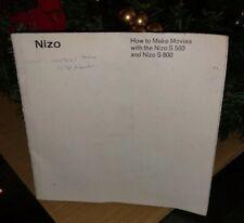 Original Nizo S 560 and Nizo S 800 Instruction Manual - in English
